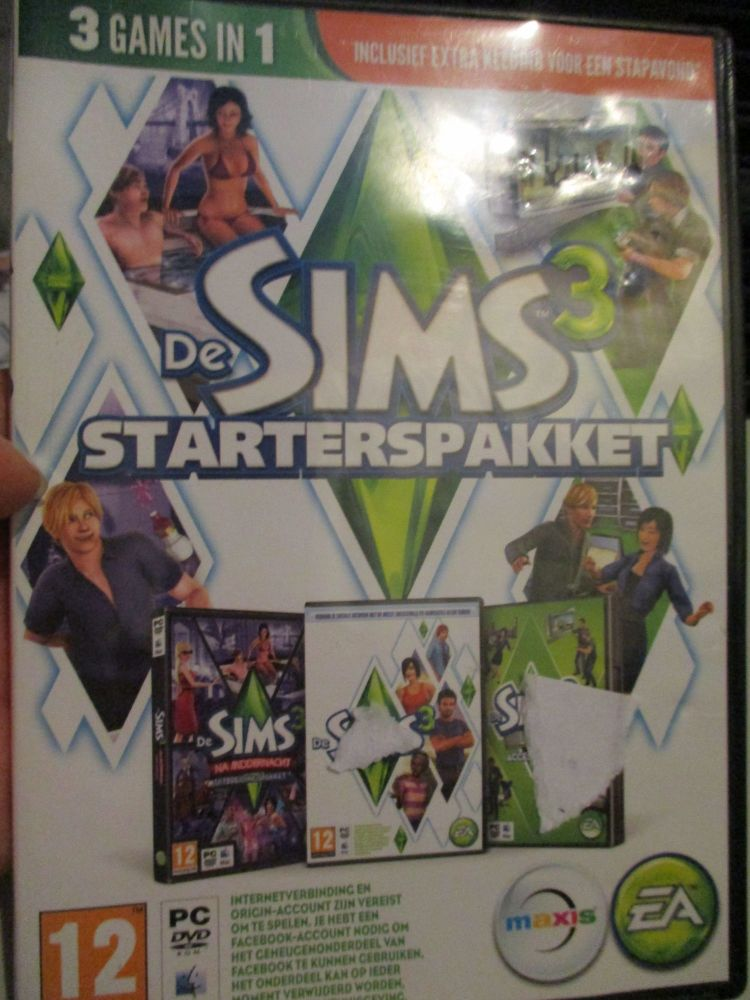 The Sims 3 Starter Set - Incs Base, Hi End Loft & Late Night (Dutch) Pal PC DVD / Mac #FM0572