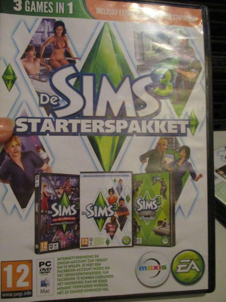 The Sims 3 Starter Set - Incs Base, Hi End Loft & Late Night (Dutch) Pal PC DVD / Mac #FM0570