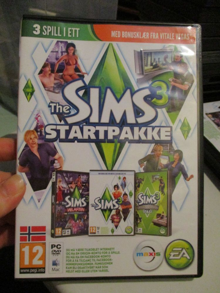 The Sims 3 Starter Set - Incs Base, Hi End Loft & Late Night (Norwegian) Pa