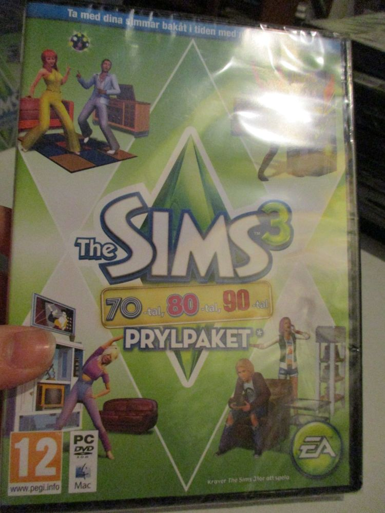 The Sims 3: 70s 80s 90s Stuff Pack (Swedish) Pal PC DVD / Mac #FM0530