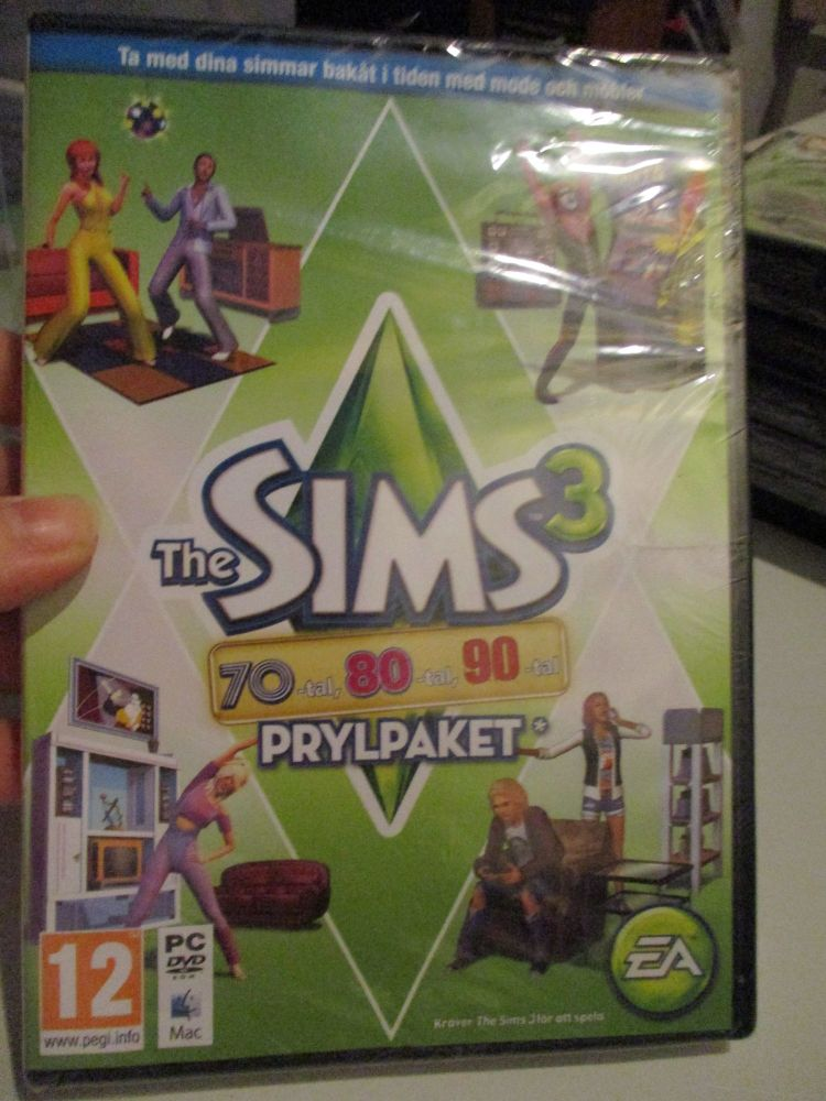 The Sims 3: 70s 80s 90s Stuff Pack (Swedish) Pal PC DVD / Mac #FM0538