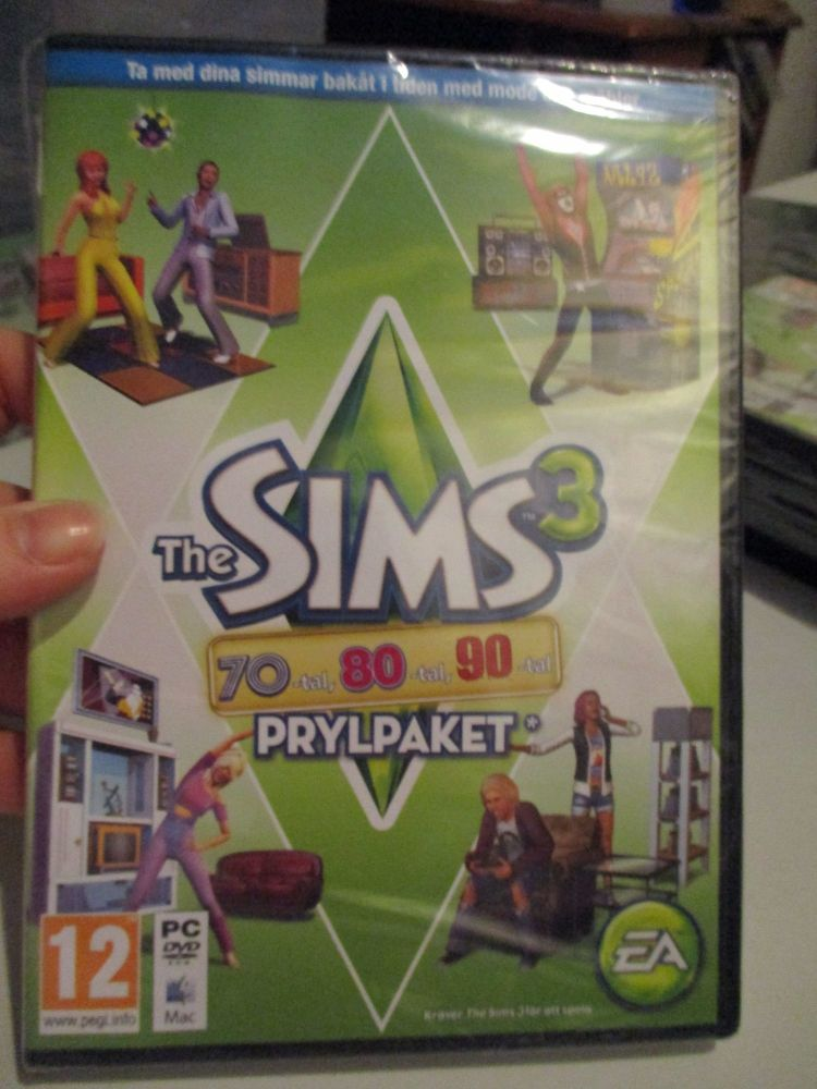 The Sims 3: 70s 80s 90s Stuff Pack (Swedish) Pal PC DVD / Mac #FM0535