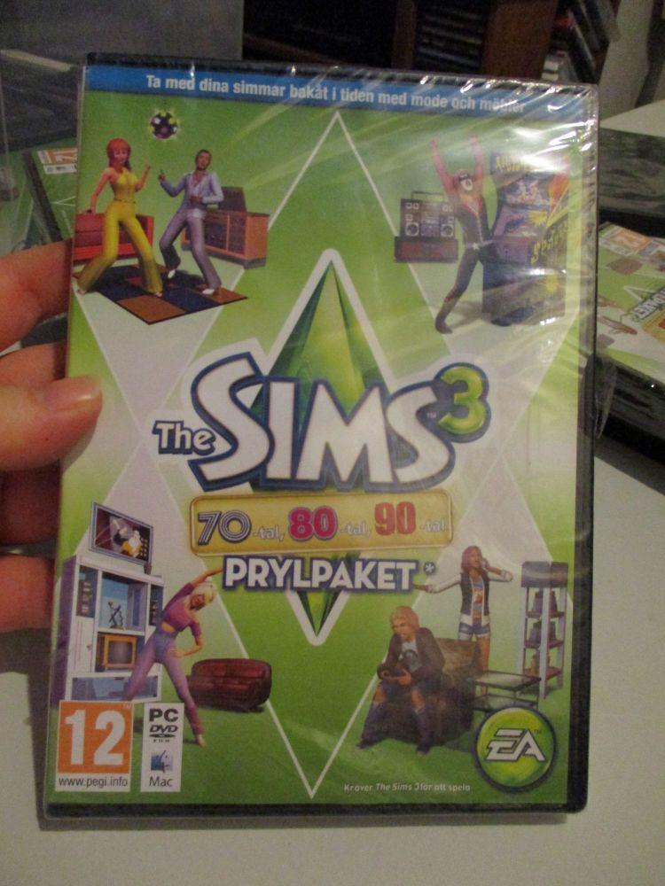 The Sims 3: 70s 80s 90s Stuff Pack (Swedish) Pal PC DVD / Mac #FM0534