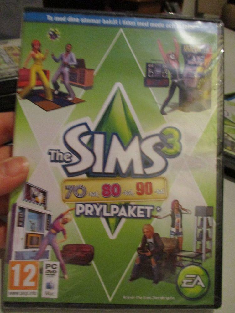 The Sims 3: 70s 80s 90s Stuff Pack (Swedish) Pal PC DVD / Mac #FM0533