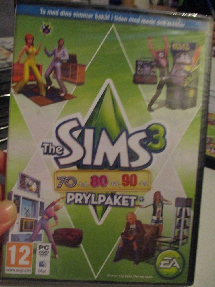 **Sealed** The Sims 3: 70s 80s 90s Stuff Pack (Swedish) Pal PC DVD / Mac