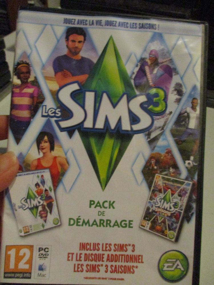 The Sims 3: Base Game & Seasons Double Pack (French) Pal PC DVD / Mac #FM04