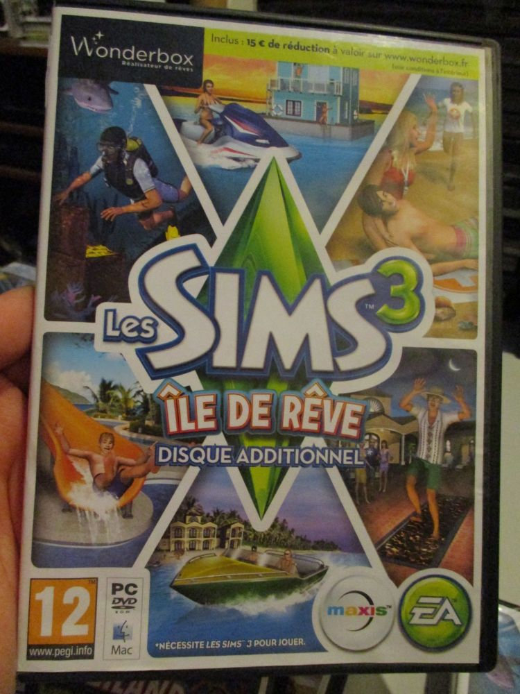 The Sims 3: Island Paradise Expansion Pack (French) Pal PC DVD / Mac #FM0523