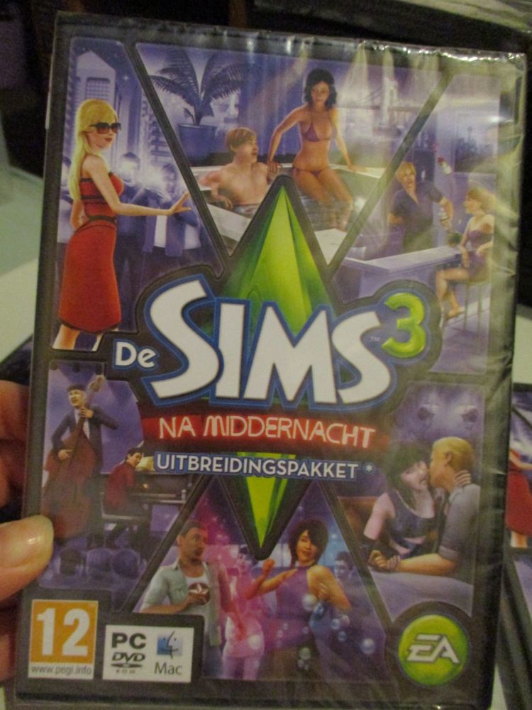 **Sealed** The Sims 3: Late Night Expansion Pack (Dutch) Pal PC DVD / Mac