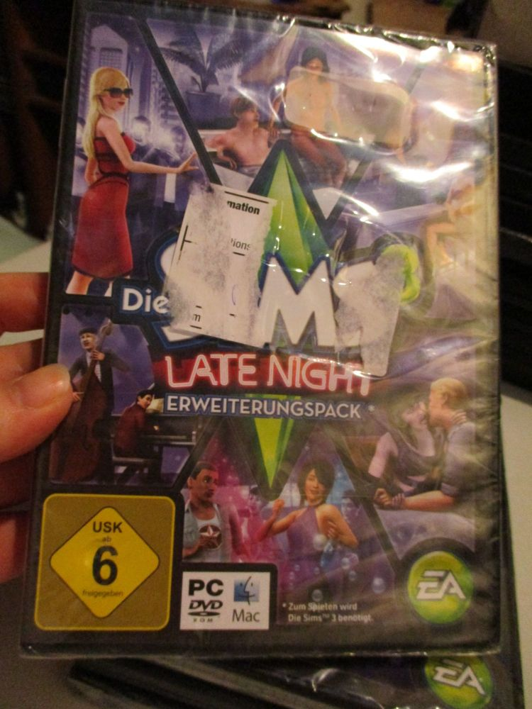 **Sealed** The Sims 3: Late Night Expansion Pack (German) Pal PC DVD / Mac
