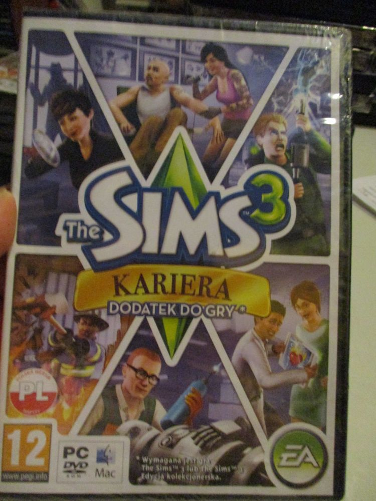 The Sims 3: Ambitions Expansion Pack (Polish) Pal PC DVD / Mac #FM0516