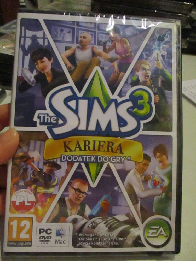 The Sims 3: Ambitions Expansion Pack (Polish) Pal PC DVD / Mac #FM0511