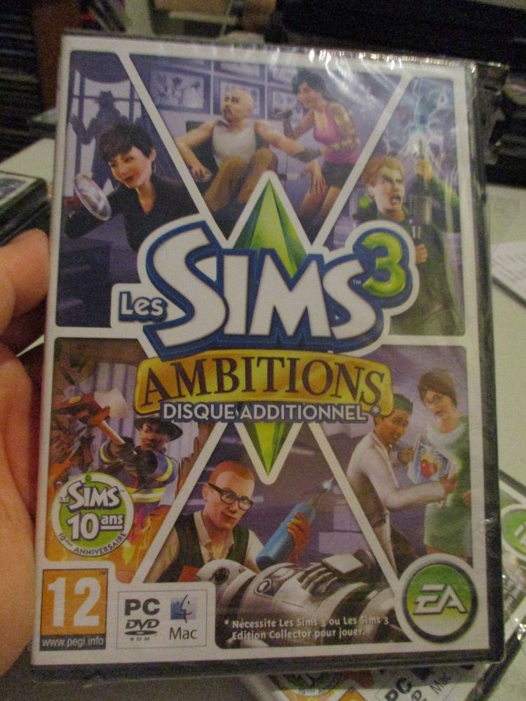 The Sims 3: Ambitions Expansion Pack (French) Pal PC DVD / Mac #FM0517