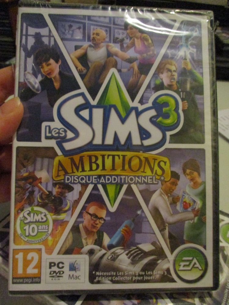 The Sims 3: Ambitions Expansion Pack (French) Pal PC DVD / Mac #FM0514