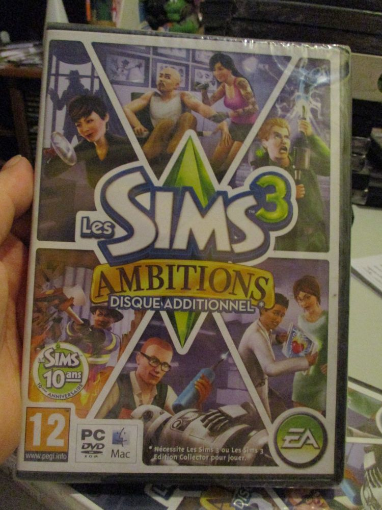 The Sims 3: Ambitions Expansion Pack (French) Pal PC DVD / Mac #FM0510