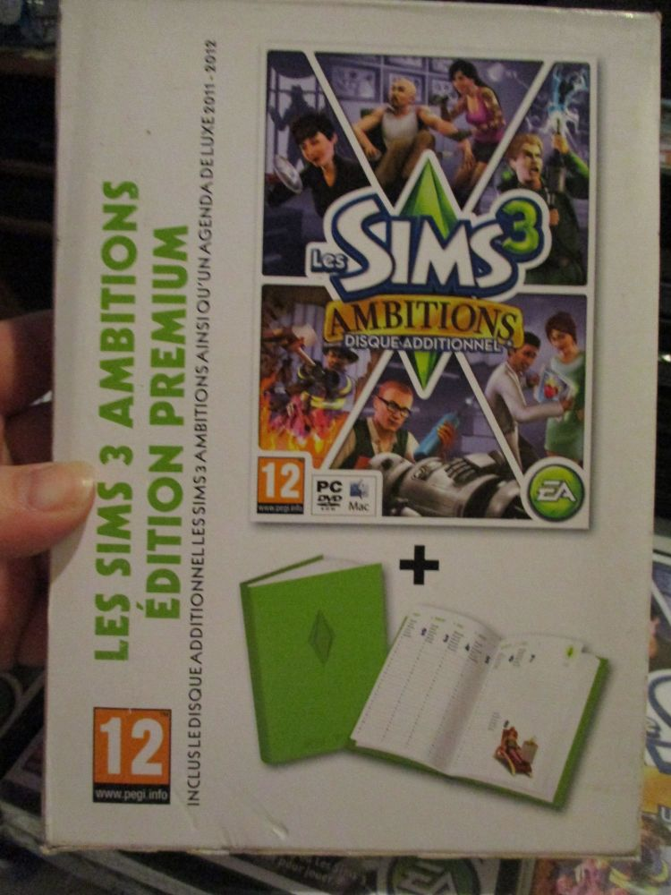 The Sims 3: Ambitions Expansion Pack Premium Edition With 2011 Diary (French) Pal PC DVD / Mac #FM0509