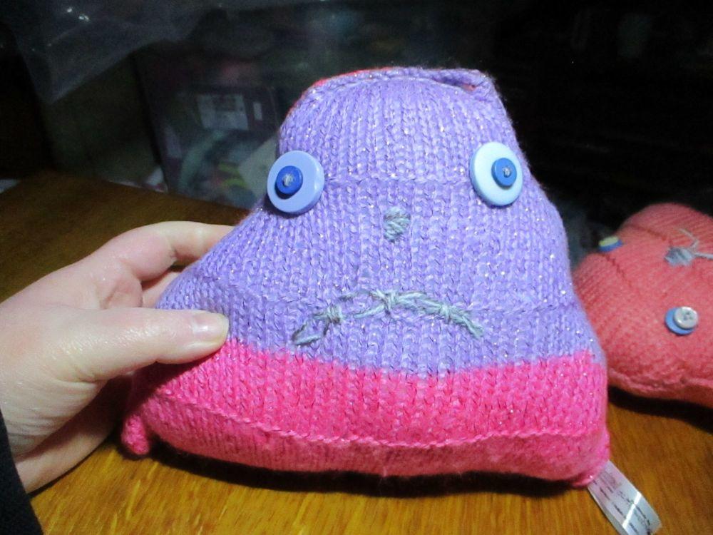 Purple & Pink Glittery with Purple Eyes Midi Terri