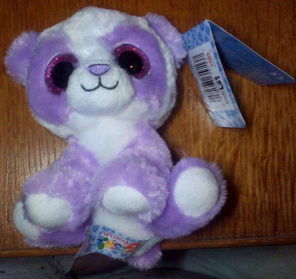 Patches Purple White Panda - Goshie Friends Beanie
