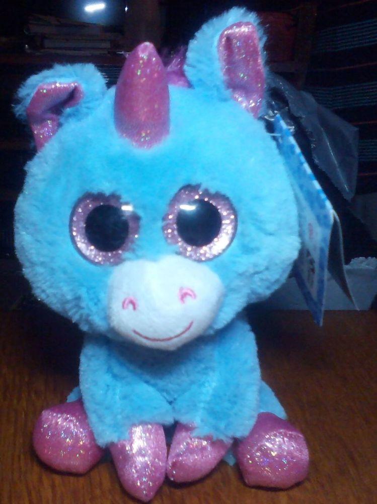 Unity Blue And Glittery Pink Unicorn - Goshie Friends Beanie