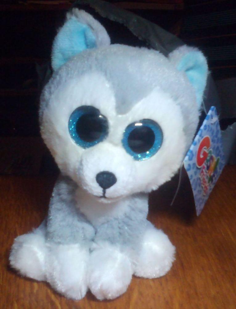 Hunter White And Grey Husky - Goshie Friends Beanie
