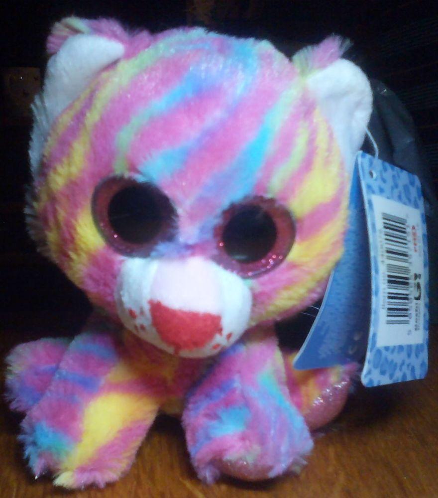 Tizzy Rainbow Striped Tiger - Goshie Friends Beanie