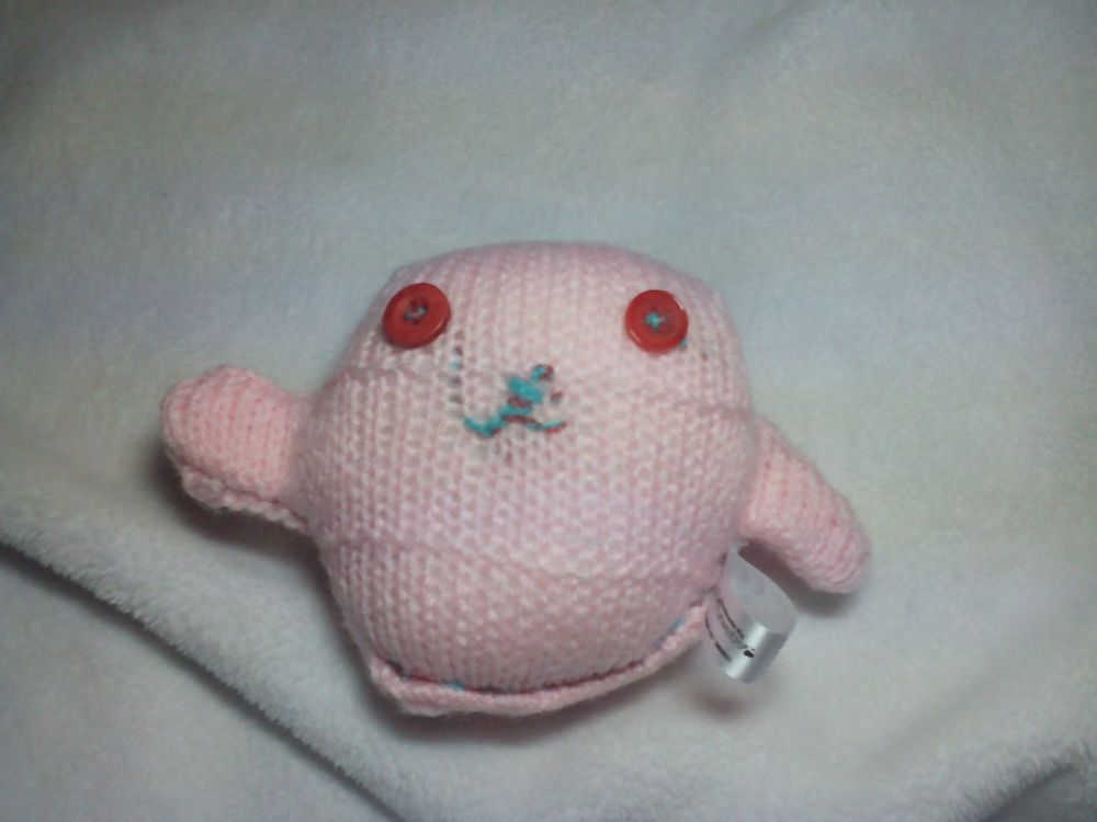 Pale Pink with Red Eyes Mini Ted