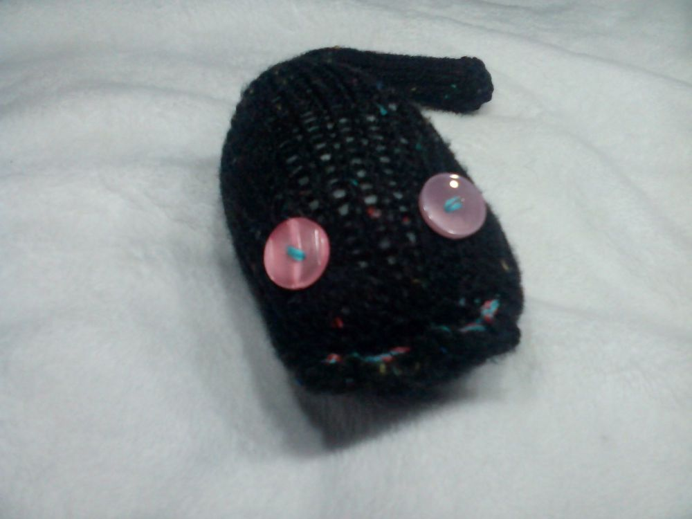 Black Speckled with Pink Pearly Eyes Midi Meeser