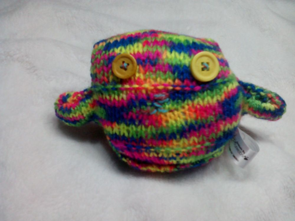 Bright Rainbow with Mustard Eyes Mini Ted