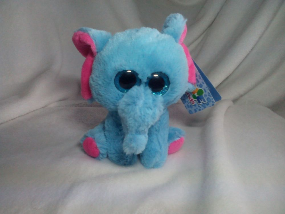 Rare Unnamed Blue And Pink Elephant - Goshie Friends Beanie