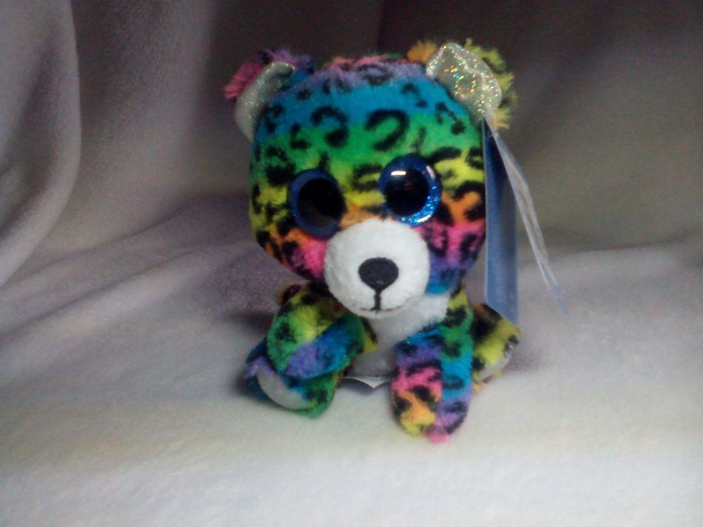 Lola Rainbow Spotted Leopard - Goshie Friends Beanie