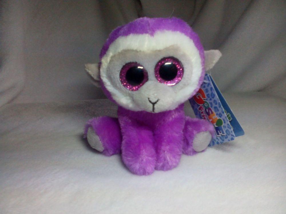 Morgan Purple White Monkey - Goshie Friends Beanie