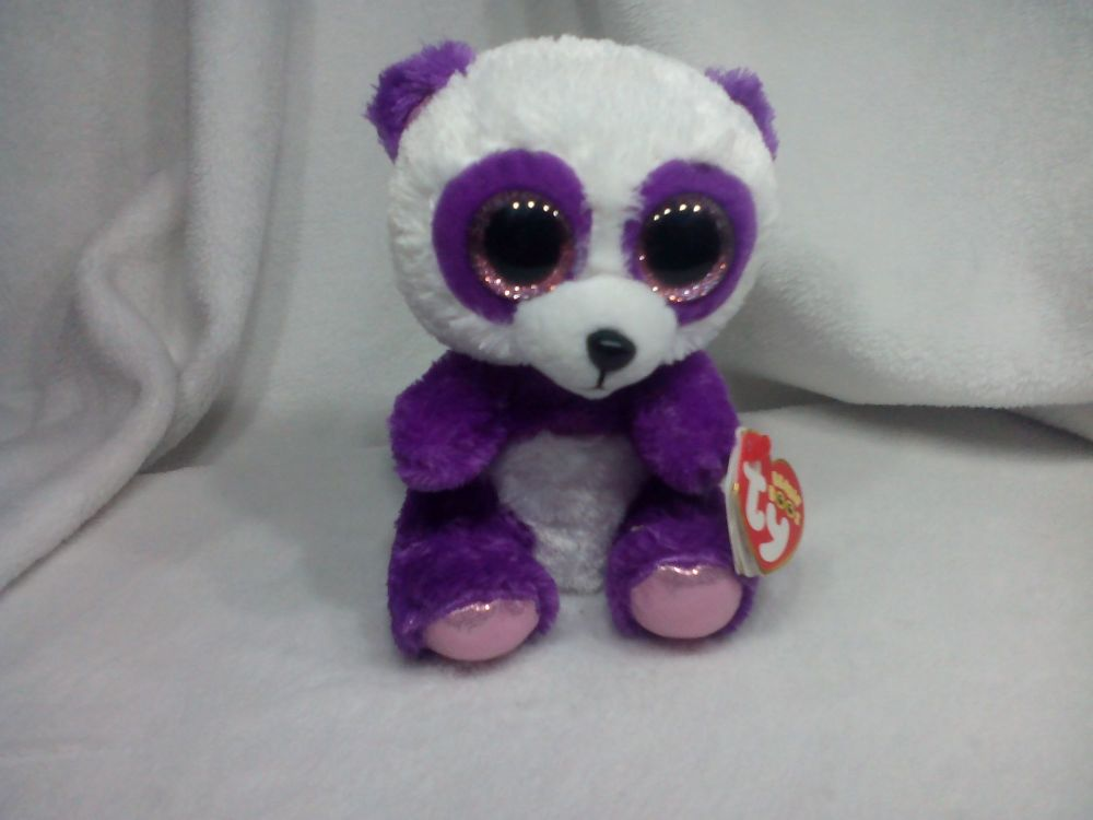 Boom Boom Purple White Panda - TY Beanie Boo Collection