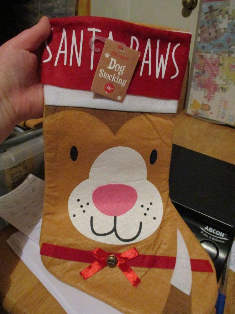 Felted Puppy Dog Christmas Stocking