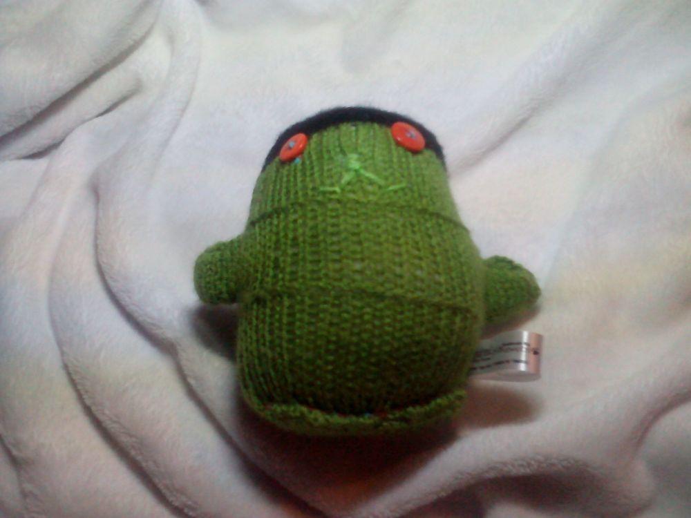 Frankenstein Monster Black And Green with Orange Eyes Midi Ted