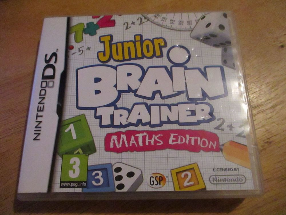 Nintendo DS Junior Brain Trainer Maths edition. Case has dent marks to surface.