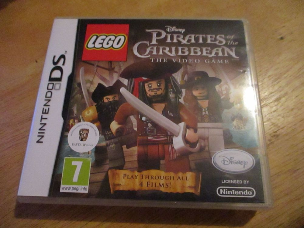 DS Lego Disney Pirates of the Caribbean the video game. Case and Cart as new