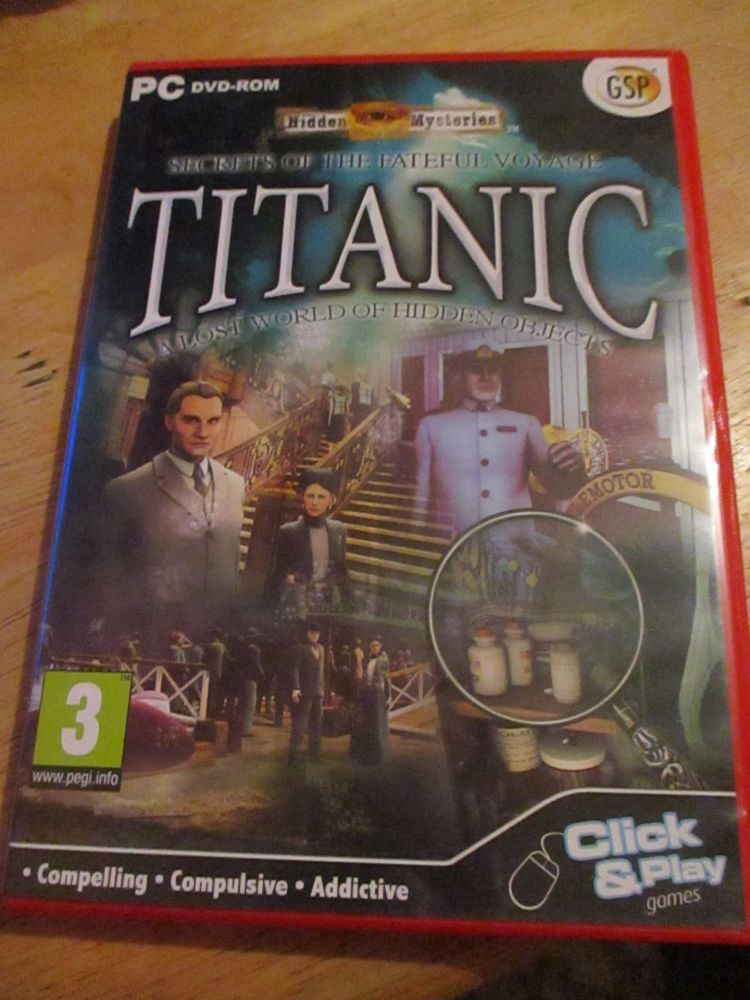 PC DVD-rom Hidden Mysteries Secrets of the Fateful Voyage - Titanic a lost