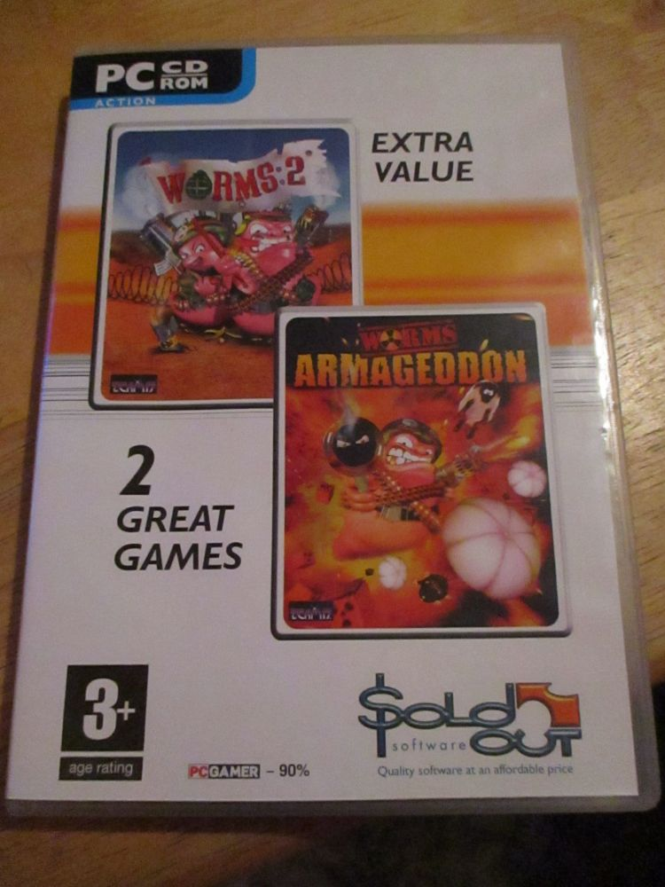 PC Cd-Rom Double Game Box - Worms 2 And Worms Armageddon