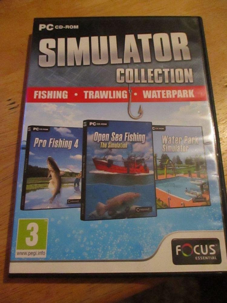 Pc Cd-Rom Simulator Collection. Fishing, Trawling, Water Park. Pro Fishing