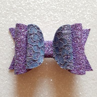 Purple Lace on Chunky Glitter