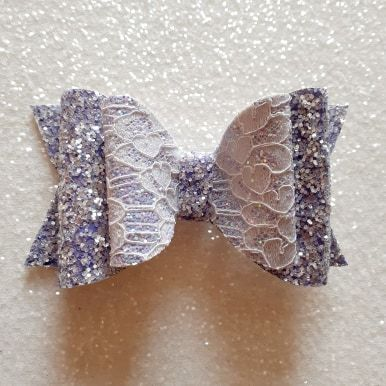 Lilac Lace on Chunky Glitter