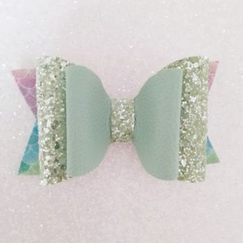 Lime Leatherette, Chunky Glitter & Mermaid Scales