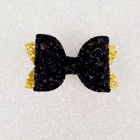 Black on Yellow Glitter