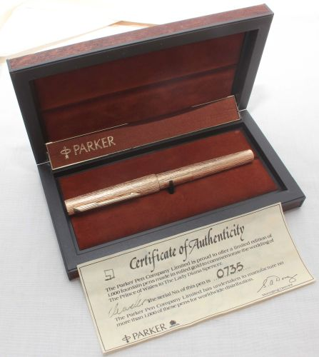 8129. Parker 105 Royal Wedding Limited Edition Commemorative Pen. Mint and