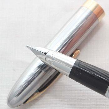 8132 Sheaffer Saratoga Snorkel Fountain Pen in Grey, c1952, Smooth Fine Nib.