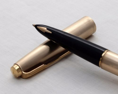 No.8116. Parker 61 Cirrus, Brushed Rolled Gold Cap and Barrel, Special