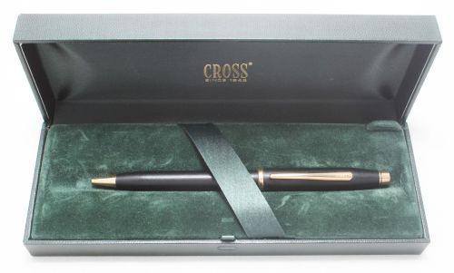 No.8006. AT Cross 'Century II' Ball Pen in Matt Black. Boxed
