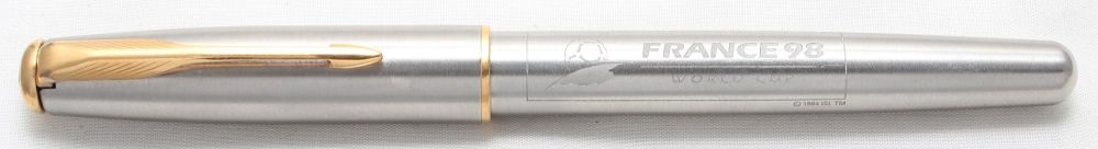 Parker Sonnet Rollerball in Brushed Stainless Steel.