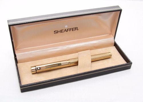 8275 Sheaffer Targa 1009 Fountain Pen in Barleycorn, Medium FIVE STAR Nib.