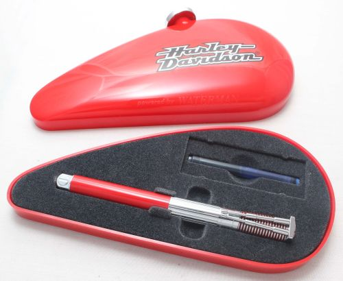 7947 Watermans Harley Davidson in Red and Chrome. Medium Nib, Mint and Boxe