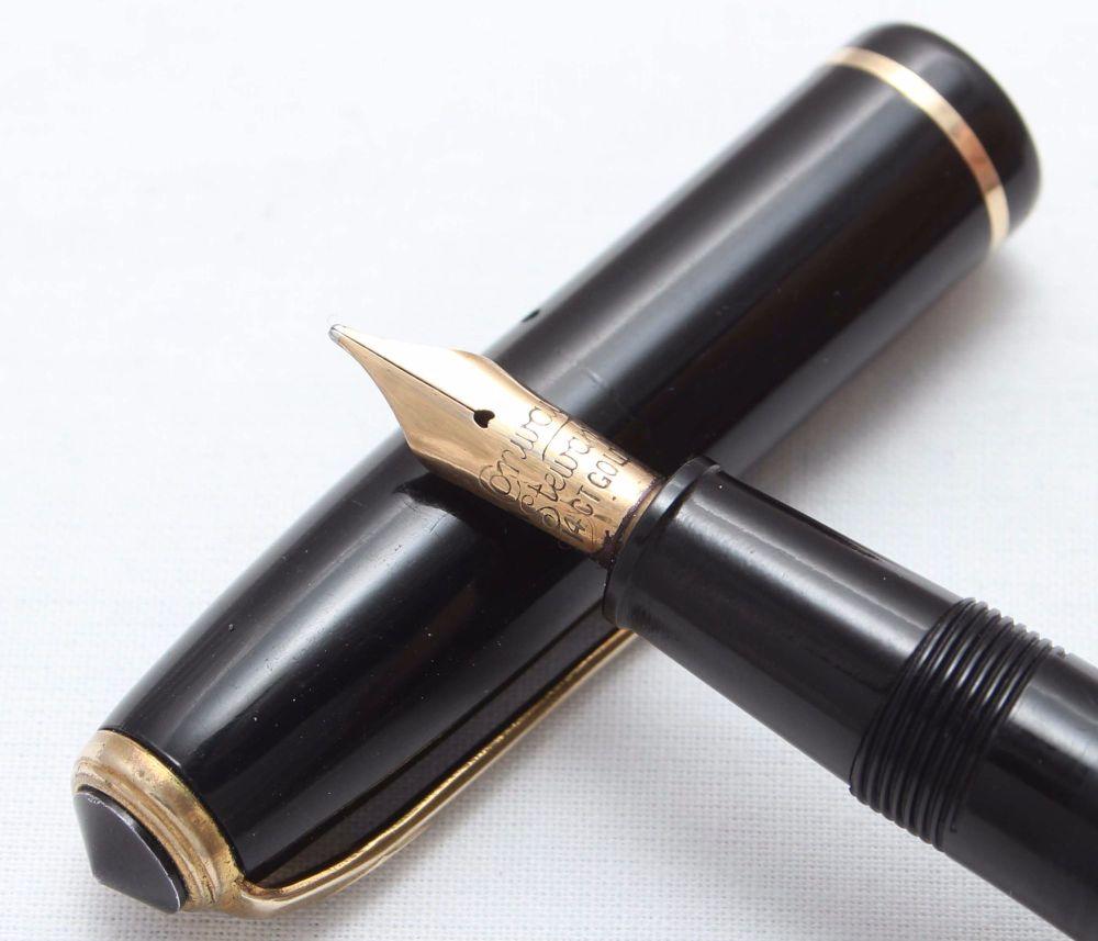8386 Conway Stewart No.28 in Classic Black. Medium FIVE STAR Nib.